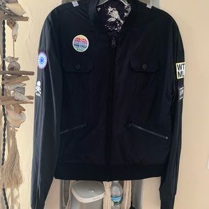 SOULCYCLE BOMBER JACKET WATERMILL M REVERSIBLE